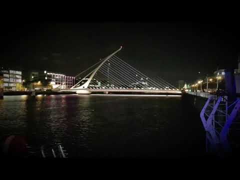 Samsung Note 8 launch at the Samuel Beckett Bridge in Dublin
