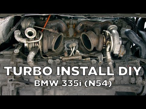BMW 335i (N54) - Turbo Removal and Install DIY - YouTube