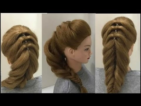 Reverse Fishtail Braid: Part 2 of 4 Easy Puff Hairstyles