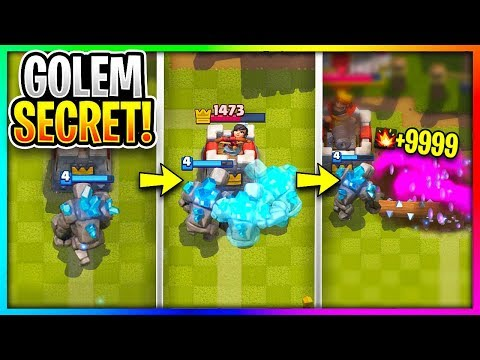 +9999 DAMAGE GOLEM SECRET FINALLY REVEALED in Clash Royale!