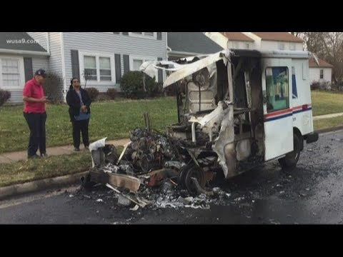 Usps Truck Catches Fire During Mail Delivery In Chantilly