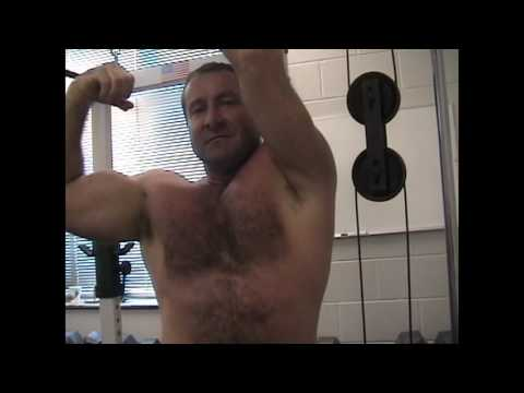 Musclebear gym coach flexing big gay muscles from YouTube · Duration:  38 seconds
