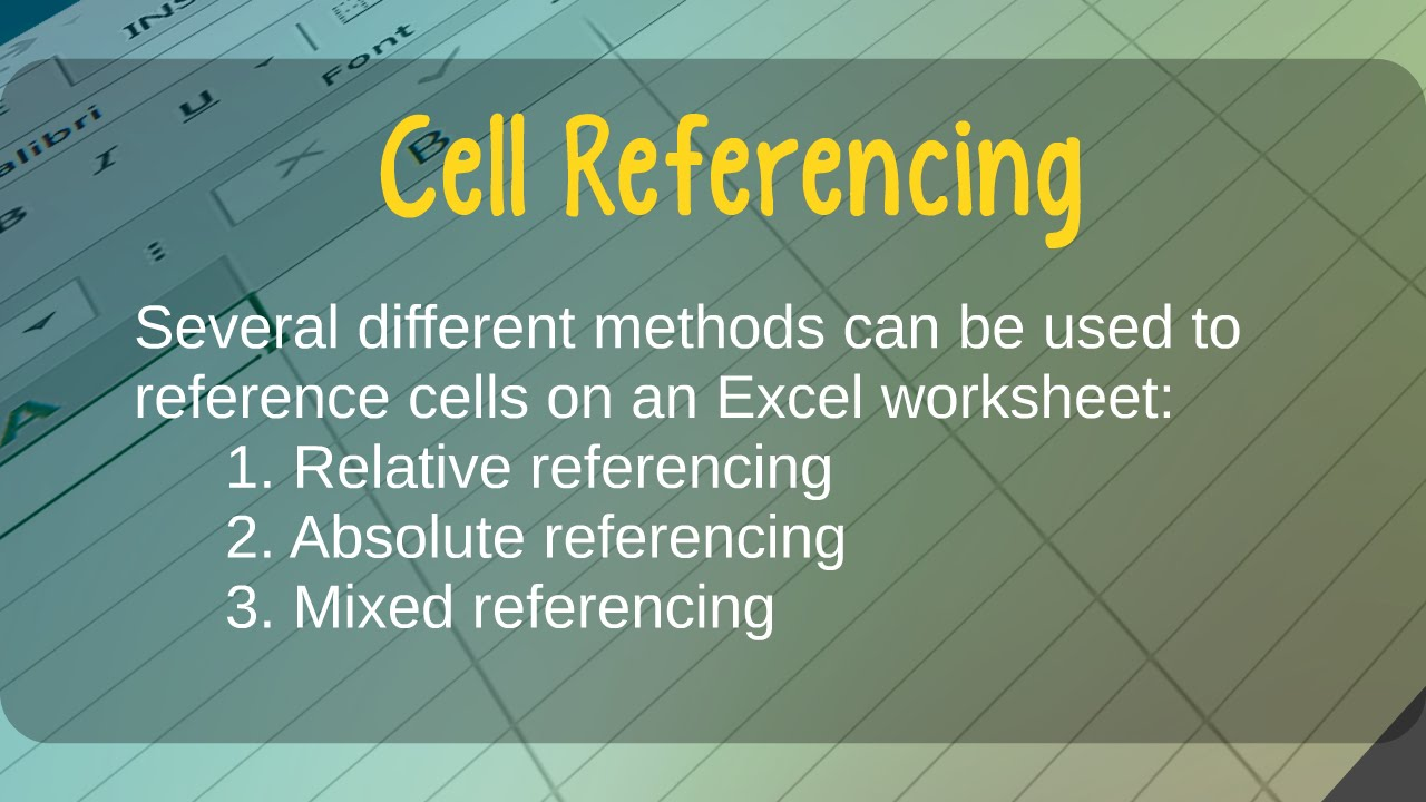 how to use relative absolute and mixed cell references in how to use relative absolute and mixed cell references in microsoft excel