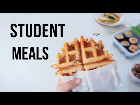Packed Vegan Lunch Ideas for Students! (easy & cheap)