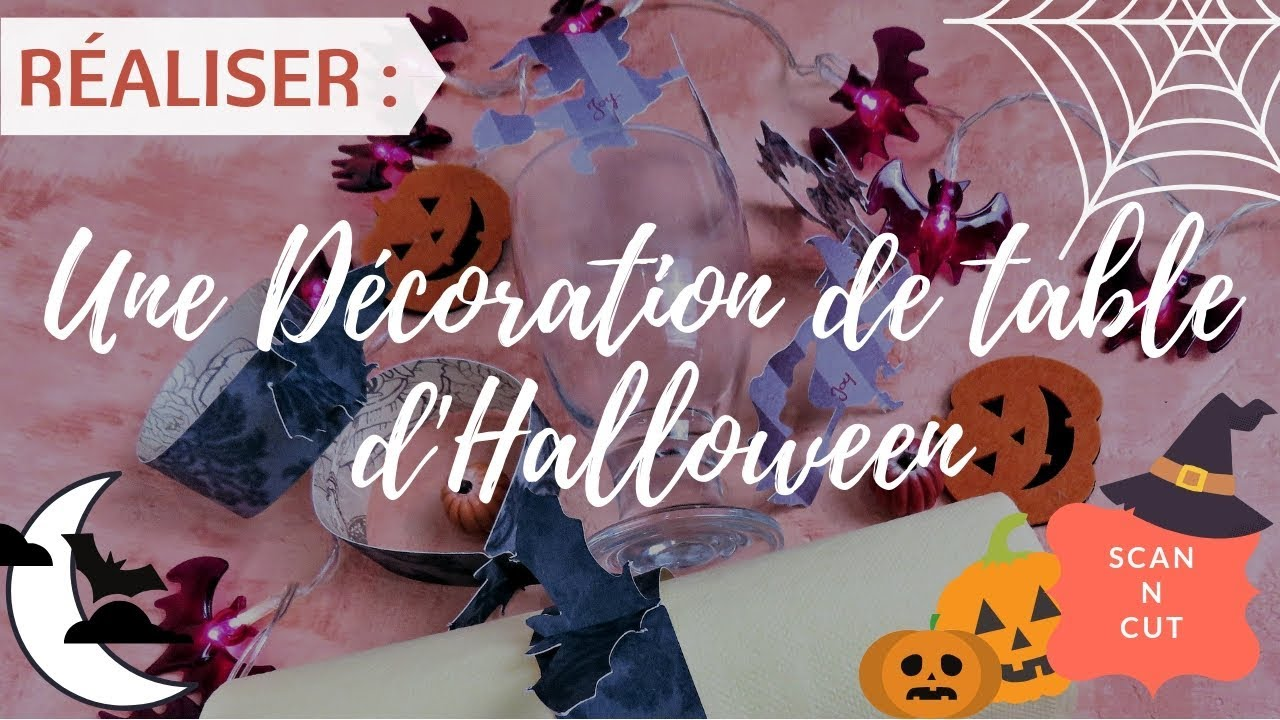 Decoration De Table Pour Halloween Scan N Cut Une Décoration De Table Pour Halloween