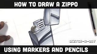 How to draw a zippo lighter with markers