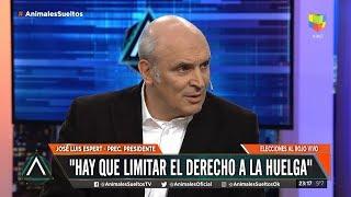 """José Luis Espert en """"Animales Sueltos"""" de Fantino, por América el 5 de julio de 2019"""