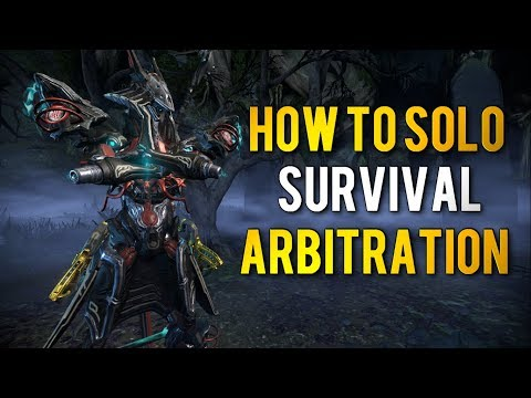 Warframe: HOW TO SOLO ARBITRATION | SURVIVAL thumbnail