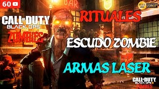 Call of Duty Black Ops 3 Zombies Gameplay Español - Shadows of Evil - Armas Laser, Escudo Zombie