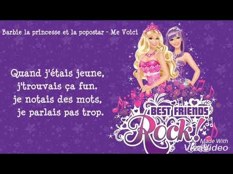 Barbie la princesse et la popstar me voici lyrics youtube - Barbie la princesse et la pop star ...