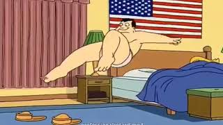American Dad intro but Stan falls over