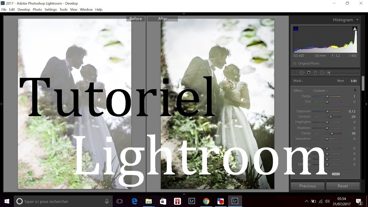 tutoriel retouche photo lightroom