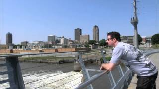 Des Moines Iowa Riverwalk Pedestrian Bridge Visit