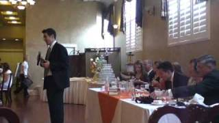 Surprise Halo Theme Music at Wedding Luncheon