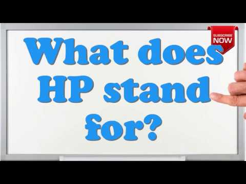 What is the full form of HP? - YouTube