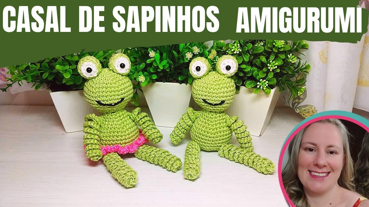 CASAL DE SAPINHOS (FROG) - AMIGURUMI - POR CARINE STRIEDER (CONVIDADA ESPECIAL)
