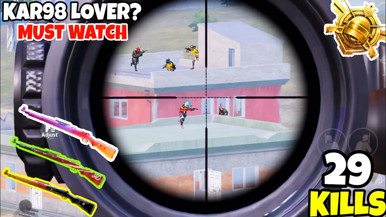 Every Kar98k Lover Should Watch This Sniping Gameplay in PUBG Mobile • (29 KILLS) • PUBGM (HINDI)
