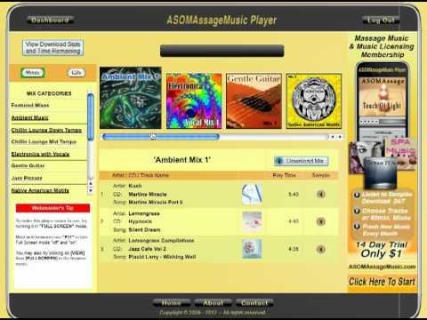 New ASOMAssageMusic 3.0 Player for Relaxation Music, Spa Music, Royalty Free Music Membership