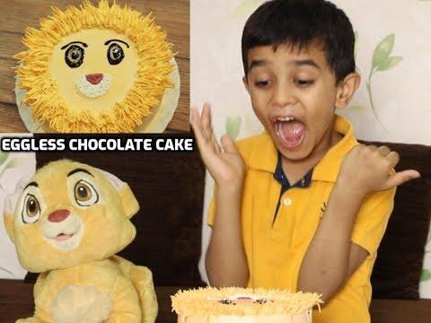 The Lion King Inspired Cake | Eggless Chocolate Cake | Easy Cake | MadhurasRecipe