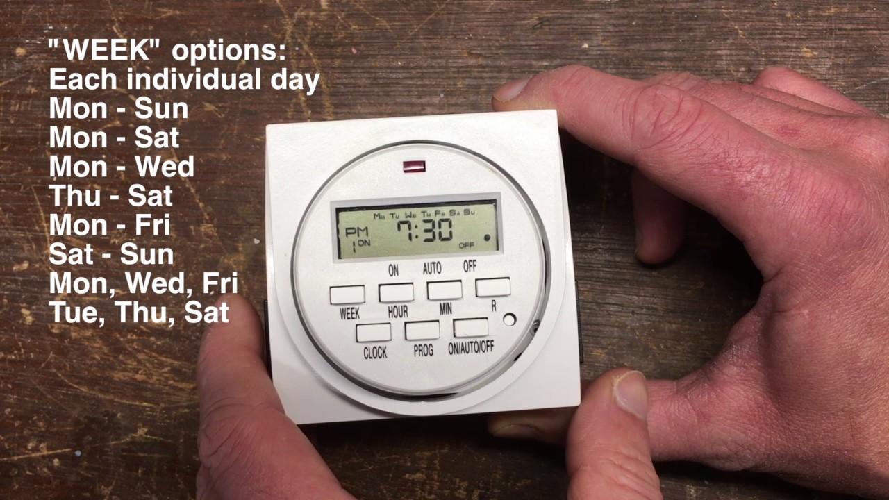 How To Set A Hydrofarm Digital Timer - Titan Controls, Century, Vivosun,  Viagrow, Aspectek