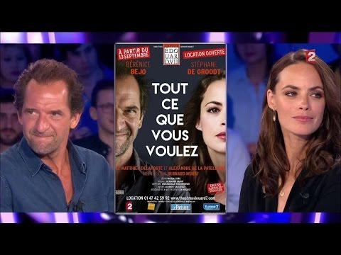 Bérénice Béjo & Stéphane De Groodt  On n'est pas couché 3 septembre 2016 ONPC