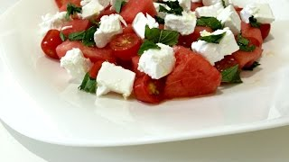 Watermelon Tomato Salad - Healthy Recipes