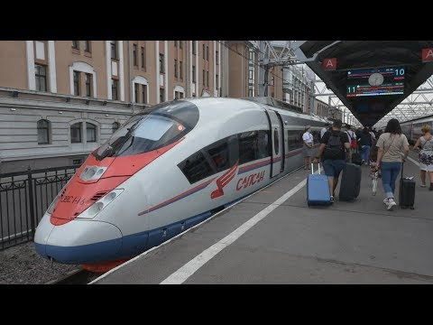 "First Class of ""Sapsan"" (Saint Petersburg - Moscow) High-Speed Train. Vlog"