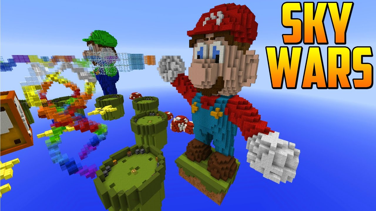 "NUEVO MAPA INCREIBLE! ""Mario"" - Sky Wars Minecraft - YouTube"