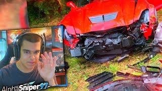 REACCIONANDO a ACCIDENTES de MI COCHE! - AlphaSniper97