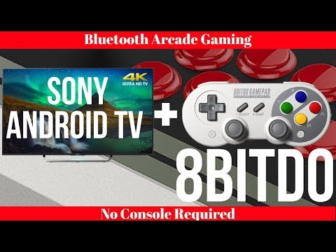 Sony Android TV + 8bitdo Bluetooth Controllers - Arcade Gaming Without A Console