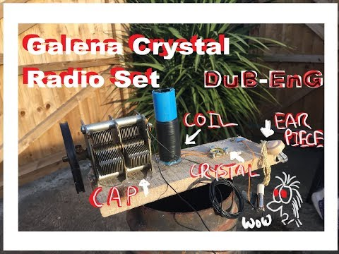 DuB-EnG: Make A Cat's Whisker Galena Crystal Radio Set Part 2 - IT WORKS!