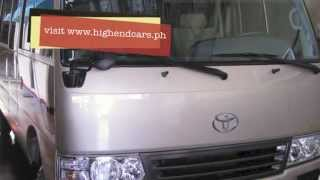 2013 TOYOTA COASTER LIMITED EDITION MINI BUS PHILIPPINES WWW.HIGHENDCARS.PH