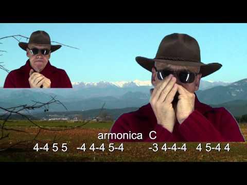 nº165 Sierra Madre ( tablatura armonica diatonica C-A ) mundharmonika