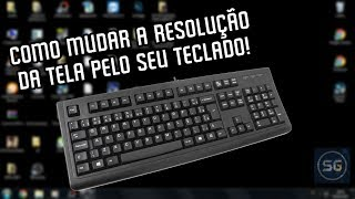 How to change the screen resolution fur the keyboard!
