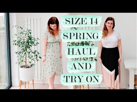 SPRING CLOTHING HAUL AND TRY ON  UK SIZE 14
