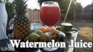 How To Make Garden Life Fresh Watermelon Juice | Chef Ricardo Cooking