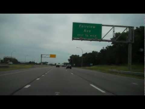 Freway Driving - MN Highway 36 (Interstate 35W to Interstate 35E)