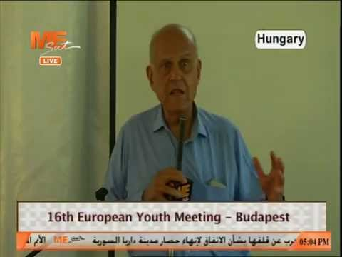 Speech of Dr./ Magdi Yacoub16  th european youth meeting - Budapest - Hungary