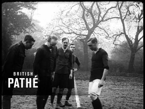 RAF Officers playing football  (1914-1918)