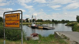 Chain Cable Ferry of Main River in Franconia, Germany