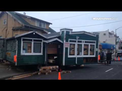 Moving the Kingfisher Pub and Café in Oakland California