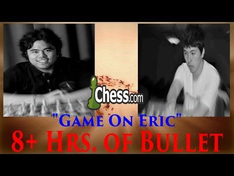 """Hikaru Nakamura★Bullet Chess in 16+ Hrs. """"OK, Game On Eric"""" 8+ Hrs vs Hansen April 12-13 2016"""