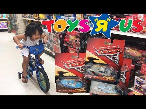 Disney Cars 3 Toys R Us Toy Hunt Radiator Springs Classic McQueen   PJ Masks Spiral playset