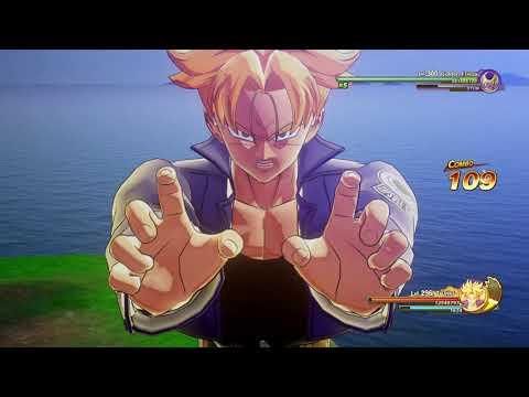 Dragon Ball Z Kakarot DLC 2 | Level 296 Super Saiyan 2 Mirai Trunks V.S Level 300 Golden Frieza |