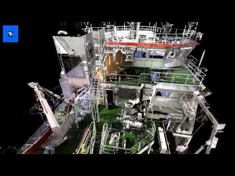 Laser scans for ship building industry