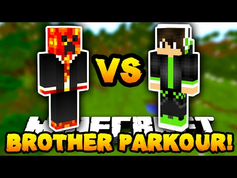 Minecraft PARKOUR with MY LITTLE BROTHER!  wPrestonPlayz & Caleb