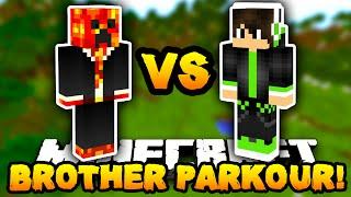 Minecraft PARKOUR with MY LITTLE BROTHER! - w/PrestonPlayz & Caleb