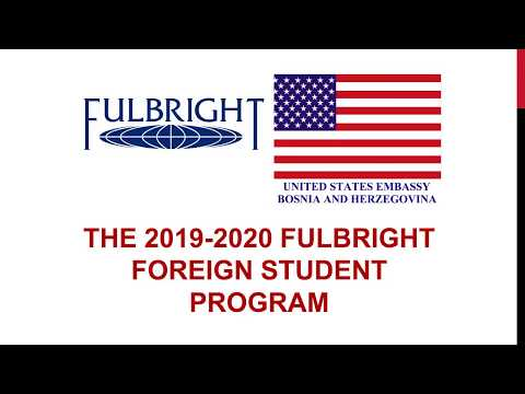 2019-2020 Fulbright Foreign Student Program Information Session
