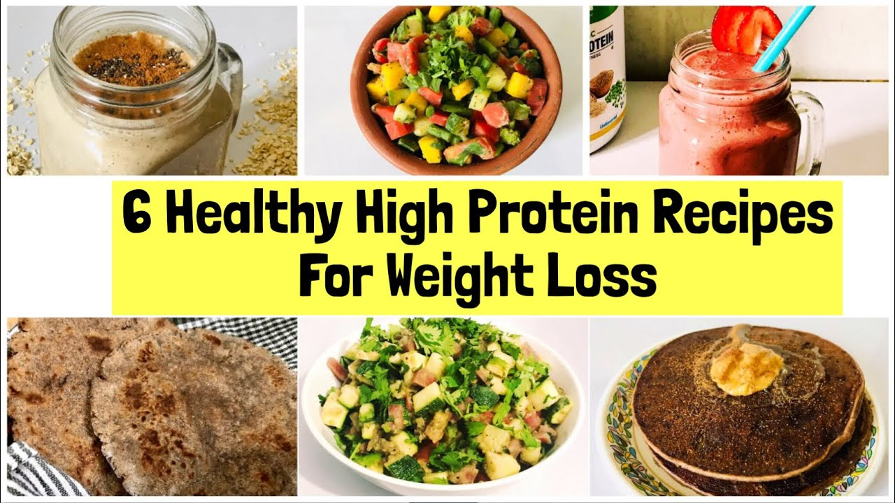 6 Healthy High Protein Recipes For Weight Loss Indian High Protein Vegan Diet Plan In Hindi Youtube