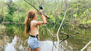 Download lagu Girl Fishing for Bass + Crappie w/ Handmade Lure (+ Life Update)